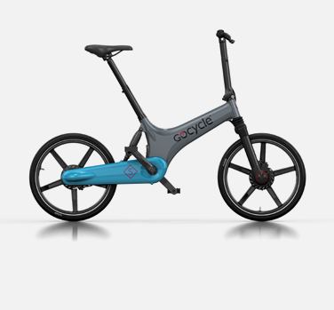 Gocycle GS grey and light blue