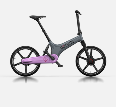 Gocycle GS grey and pink